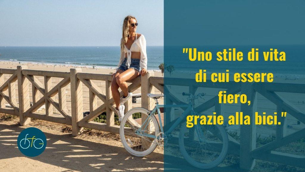 uno stile di vita che fa stare bene grazie alla bicicletta