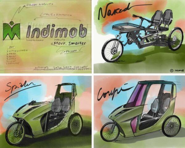 I 3 modelli Indimob